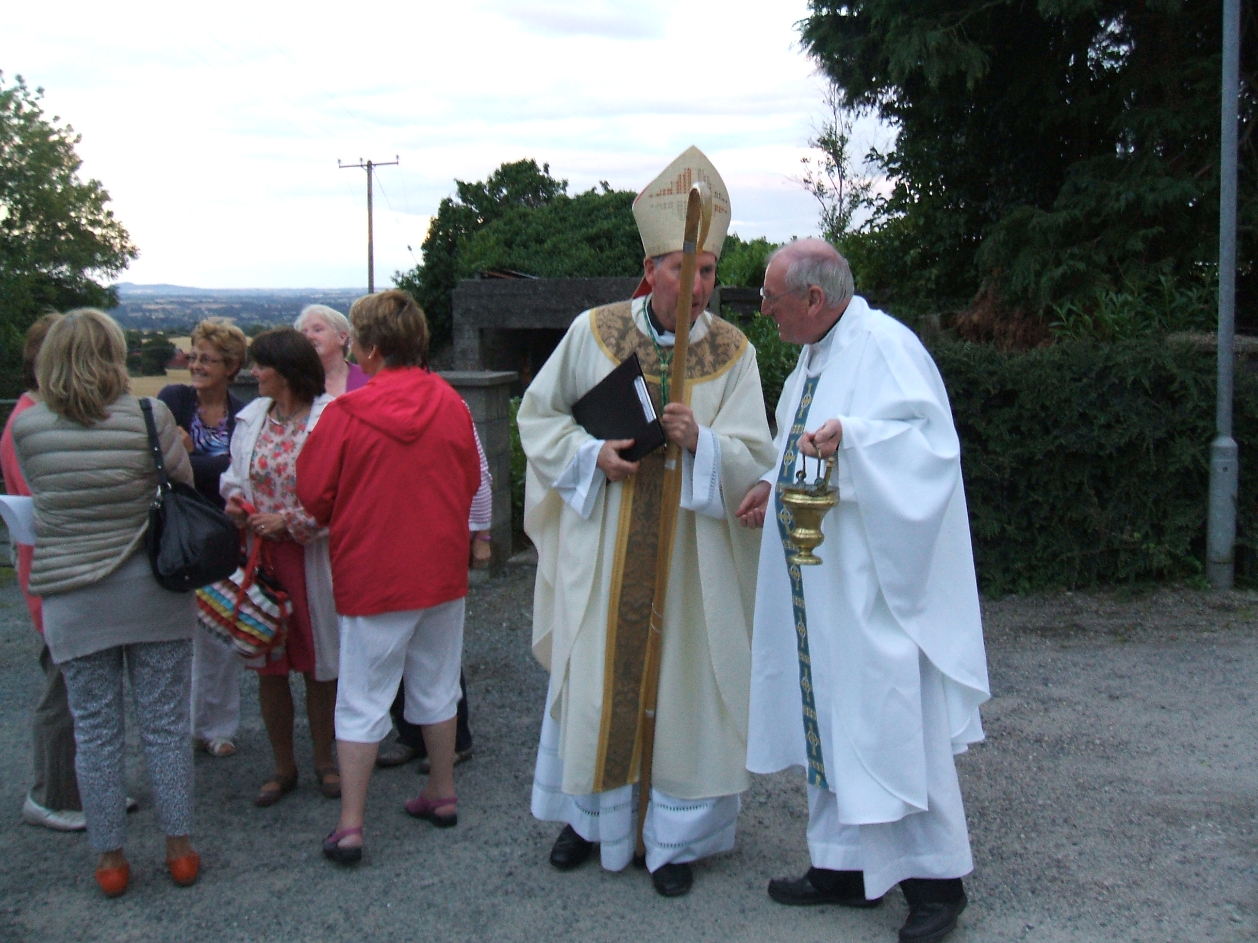 Bishop Brennan & Fr. Duffy at Blessing of Grotto