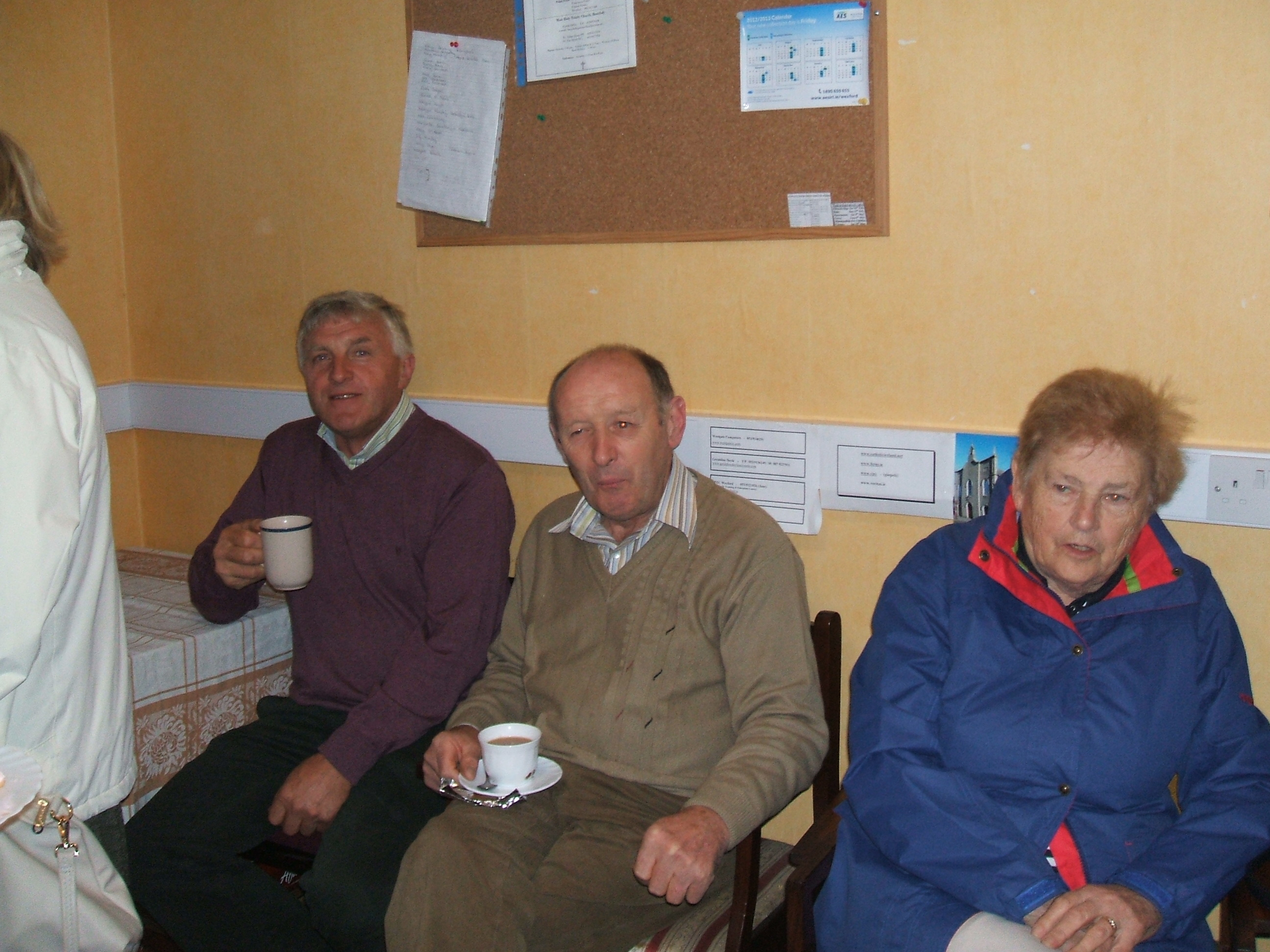 Enjoying  a cuppa and chat after Blessing of Grotto